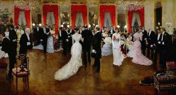 Soiree in Hotel Caillebotte Artwork by Jean Georges Beraud