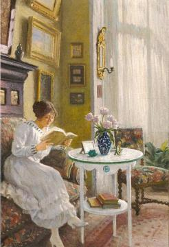 Afternoon Read Artwork by Paul Gustave Fischer