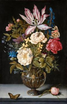 Still-life With Flowers Artwork by Ambrosius Bosschaert