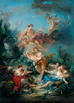 Mercury Confiding The Infant Bacchus To The Nymphs Of Nysa Artwork by Francois Boucher