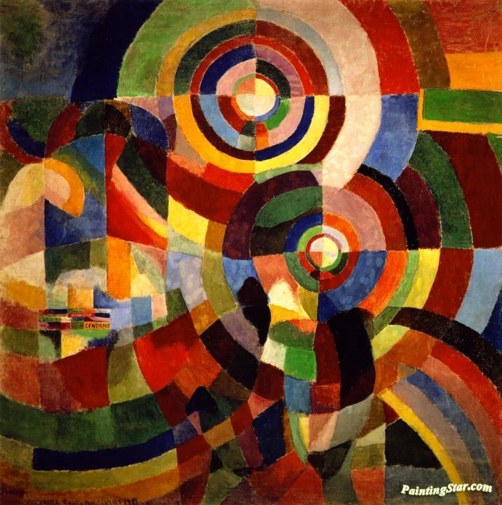 Electric Prism Artwork By Sonia Delaunay Terk Oil Painting