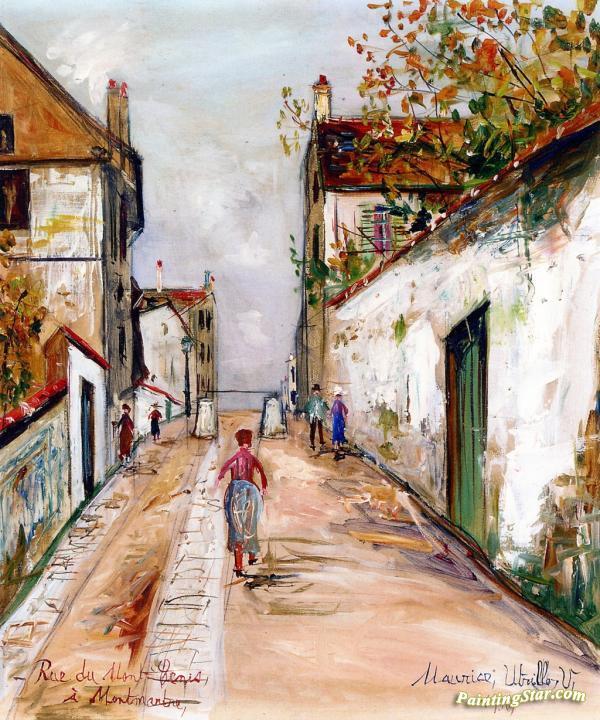 Rue Du Mont Cenis In Montmartre Artwork By Maurice Utrillo