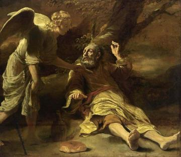Elijah Fed by an Angel Artwork by Ferdinand Bol