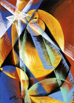 Mercury Passing In Front Of Sun Artwork by Giacomo Balla