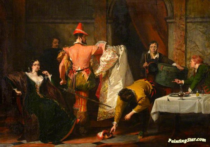Catherine And Petruchio Artwork By Charles Robert Leslie Oil Painting Art Prints On Canvas For Sale Paintingstar Com Art Online Store
