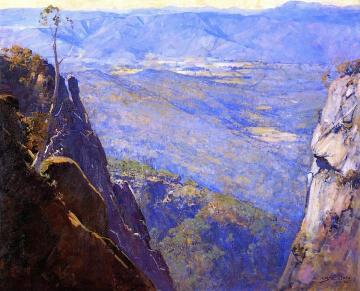 Blue Depths Artwork by Sir Arthur Streeton