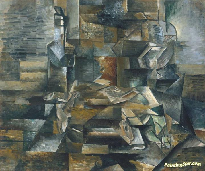 Bottle And Fishes Artwork by Georges Braque