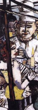 Perseus (Triptych - Left Panel) Artwork by Max Beckmann