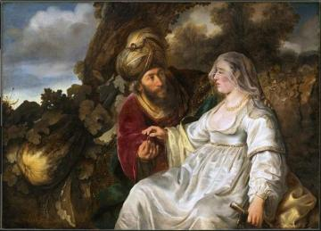 Judas and Thamar Artwork by Ferdinand Bol