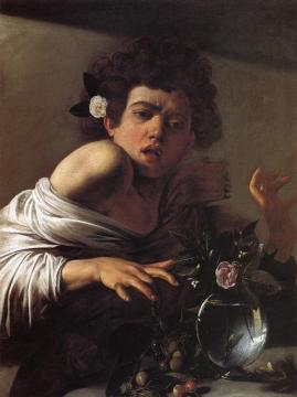 Boy Bitten by a Lizard Artwork by Caravaggio
