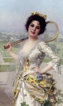 An Elegant Player Artwork by Vittorio Matteo Corcos