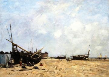 Berck, Beach Scene Artwork by Eugène-Louis Boudin