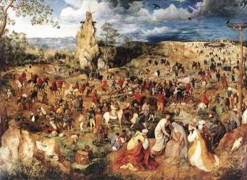 Christ Carrying the Cross Artwork by Pieter Bruegel the Elder