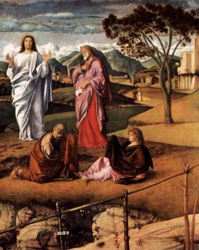 Transfiguration of Christ (detail) Artwork by Giovanni Bellini