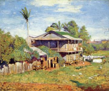 Washday, Panama City Artwork by Alson Skinner Clark