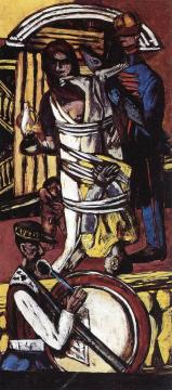 Departure (Triptych - Right Panel) Artwork by Max Beckmann