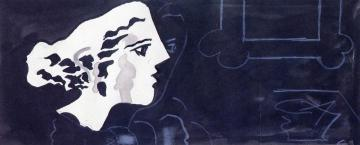 Woman's Head In Profile Artwork by Georges Braque