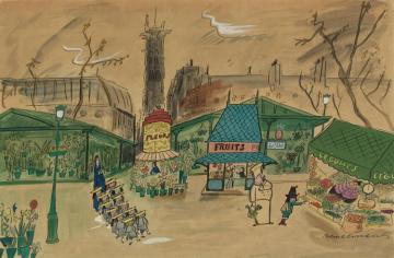 And Lo And Behond, The Former Barbarian Turned Into A Vegetarian Artwork by Ludwig Bemelmans