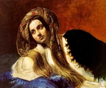 A Turkish Girl Artwork by Karl Pavlovich Bryullov