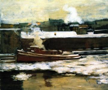 Pushing Through The Ice Artwork by Alson Skinner Clark