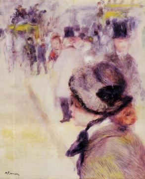 Place Clichy Artwork by Pierre Auguste Renoir