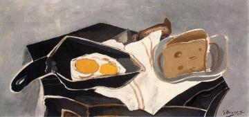 Eggs On The Stove Artwork by Georges Braque