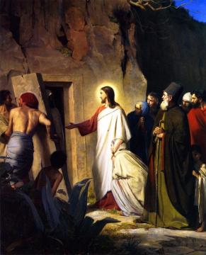 Jesus Raises Lazarus from the Dead Artwork by Carl Heinrich Bloch