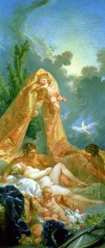 Venus And Mars Surprised By Vulcan Artwork by Francois Boucher