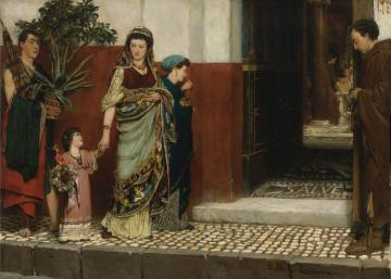 Returning From Market Artwork by Sir Lawrence Alma-Tadema