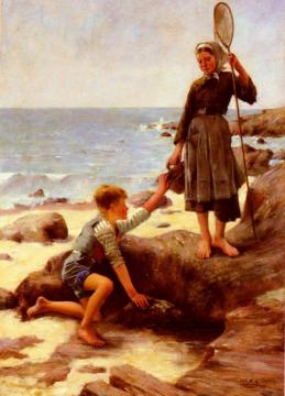 Young Fishermen Artwork by Jules Bastien-Lepage