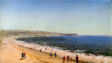 Easton's Beach, Newport, Rhode Island Artwork by Charles De Wolf Brownell