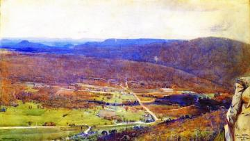 The Valley Of The Mittagong Artwork by Sir Arthur Streeton