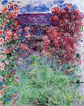 The House among the Roses Artwork by Claude Oscar Monet
