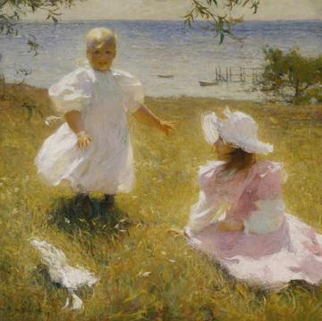 The Sisters Artwork by Frank W. Benson