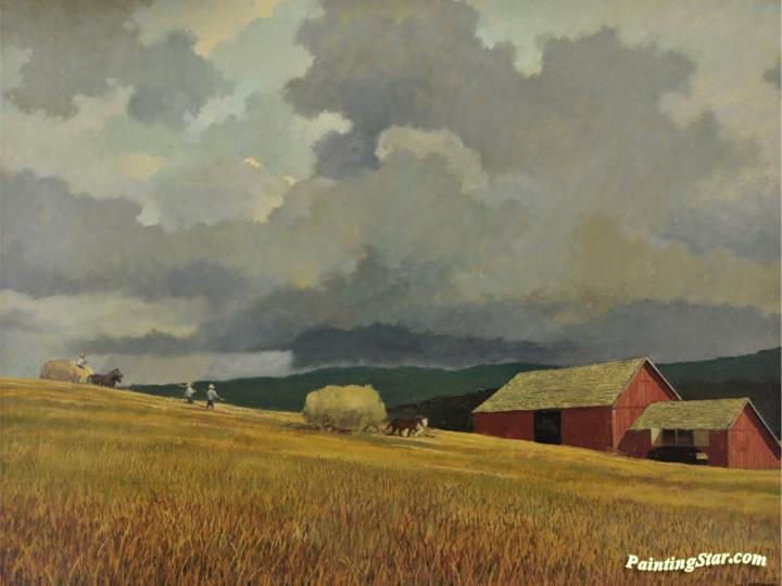 Coming In From The Fields Artwork By Eric Sloane Oil