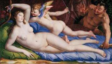 Venus, Cupido And Satyr Artwork by Agnolo Bronzino