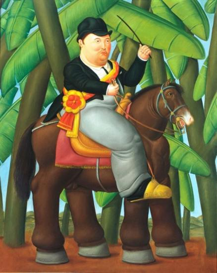 The President, 1989 Artwork by Fernando Botero