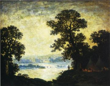 Moonlight, Indian Encampment Artwork by Ralph Albert Blakelock