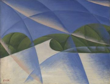 Abstract Speed - The Car Has Passed Artwork by Giacomo Balla