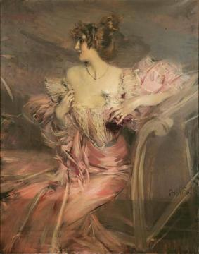 Portrait Of Madame De Florian Artwork by Giovanni Boldini
