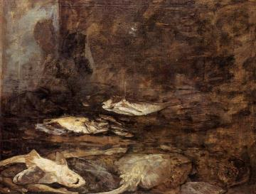 Fish, Skate and Dogfish Artwork by Eugène-Louis Boudin
