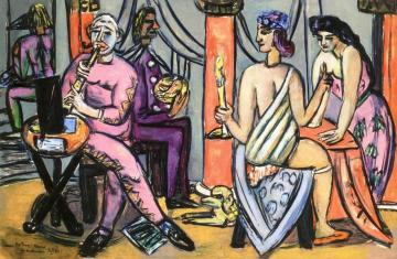 The Pompeii-clowns Artwork by Max Beckmann