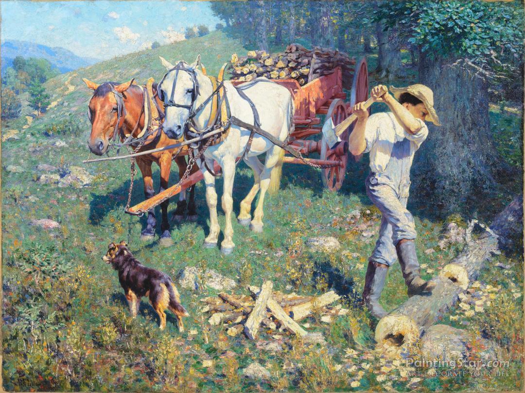 West Virginia Woodchopper Artwork By William Robinson