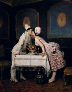 The Kiss Artwork by Auguste Toulmouche