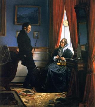The Artist's Parents, Mr. and Mrs. Bloch in Their Sitting Room Artwork by Carl Heinrich Bloch