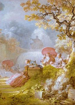 a game of horse and rider artwork by jean honore fragonard. Black Bedroom Furniture Sets. Home Design Ideas