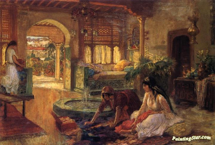 f638b3495a8 Orientalist Interior Artwork By Frederick Arthur Bridgman Oil ...