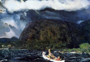 In a Rowboat Artwork by George Wesley Bellows