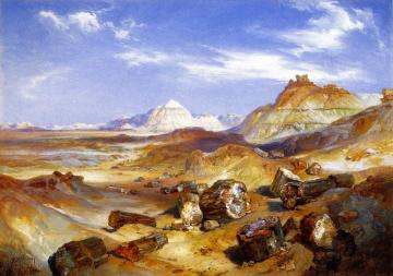 Petrified Forest Artwork by Thomas Moran