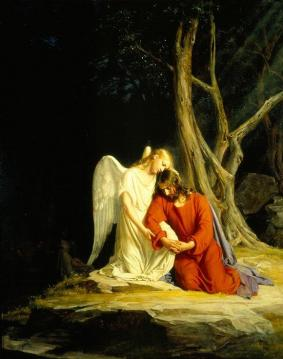 Christ In Gethsemane (kristus I Gethsemane) Artwork by Carl Heinrich Bloch